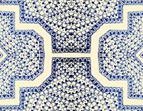 Blue print pattern