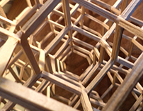 Coffee-Stirrer Stool - diamond cubic truss