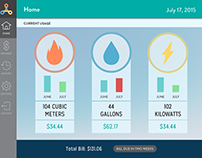Den UI Design (concept energy usage app)