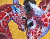 Pastel Giraffes