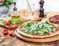 Food photo pizza and italian cuisine