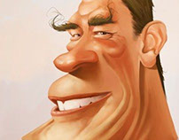 Caricature of Arnold Schwarzenegger