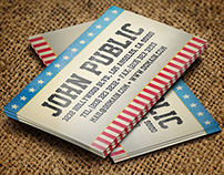 America Business Card Template