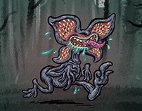 Stranger Things Demogorgan Cartoonified