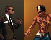Pixel Artwork: Kanye vs Wiz