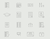 Academic Icon Set