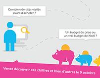 Carton d'invitation Conférence Noël Digital