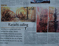 DAWN Newspaper publishes article on solo exhibition
