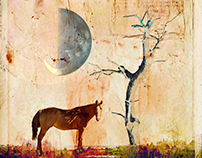 The horse under the moon