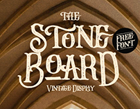 STONE BOARD - FREE VINTAGE DISPLAY FONT