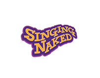 Singing Naked, event identity & decor