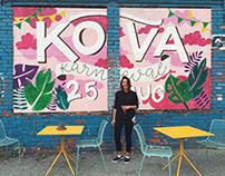 Lettering Mural for Kõva karneval. Sveta bar, Tallinn
