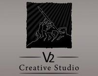 """V2 Creative Studio"" Brand Identity"
