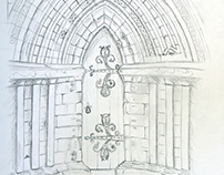 Cathedral door drawing