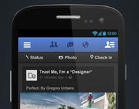 Facebook Battery Saver Dark Theme