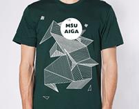 MSU Aiga T Shirt Design