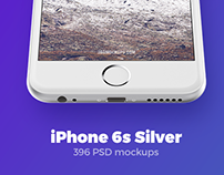iPhone 6s Silver mockups + FREEBIE