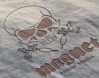 Logo design for tattoo studio Magnet ( manual drawing)