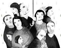 Q14 Magazine cover illustration & inside illustrations.