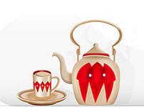 Traditional Arabic Teapot