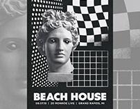 Beach House Gig Poster