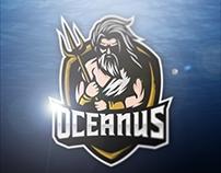 OCEANUS , Neptune Mascot Logo