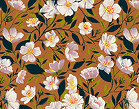 print design - floral mountain flower