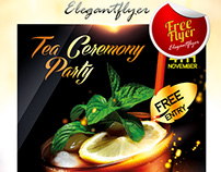 Tea Ceremony Party – Flyer PSD Template + Facebook Cove