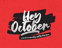 Free Hey October Brush Font