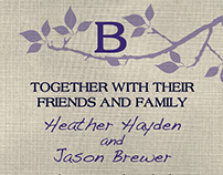 Heather and Jason Wedding Stationary
