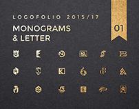 Logofolio 01. Monograms. Marks. 2015/17