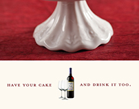 Red Velvet Cupcake Wine Ads