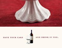 Red Velvet Cupcake Wine Ads