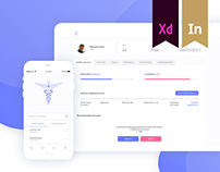 UI/UX for Web and Mobile Health analytics apps