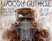 Woody Guthrie Concert Poster