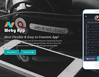 Weby App - Mobile App Landing Page Template