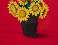 Acrylic Painting - Yellow Flowers