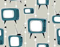 Vintage Televisions Pattern Design