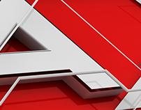 AXN: logotype render