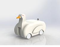 Big Duck Pull Back Car
