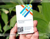 Custom Color Screen Printed White Metal Business Card