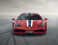 Ferrari 458 Speciale launch website