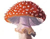 Amanita Muscaria Painting