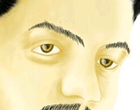 Self Portrait with Sketchbook mobile on Samsung note 2