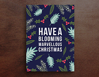 Blooming Christmas cards
