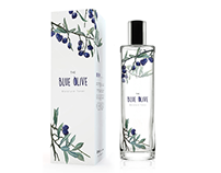 The blue olive's packaging