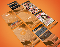 Magazine viewer App mockup
