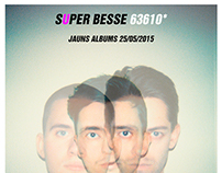 SUPER BESSE POSTER - NEW ALBUM. LATVIA RELEASE.