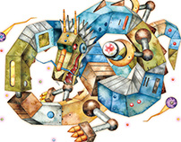 Mechanical animal-Fantasy animal (for Book cover)