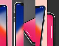 iPhone X Design Mockup